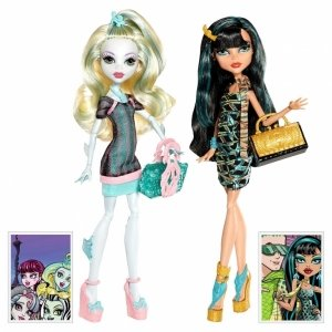 Сет из 2 кукол MONSTER HIGH Скариж - Лагуна Блю и Клео де Нил