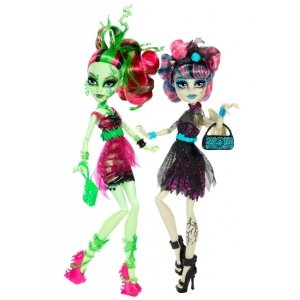 Сет из 2 кукол MONSTER HIGH Зомби Шейк - Рошель Гойл и Венера Макфлайтрап