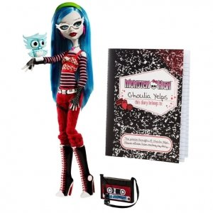 Кукла MONSTER HIGH - Гулия Йелпс базовая с питомцем