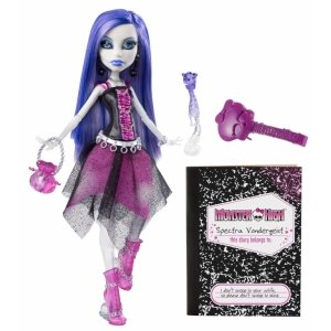 Кукла MONSTER HIGH - Спектра Вондергейст базовая с питомцем