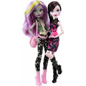 Набор из 2 кукол MONSTER HIGH Дракулаура и Моаника - Добро пожаловать в Школу Монстров!